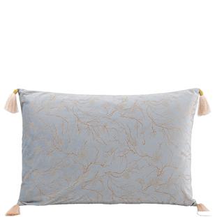 Kuddfodral Celeste ljusblå/ guld