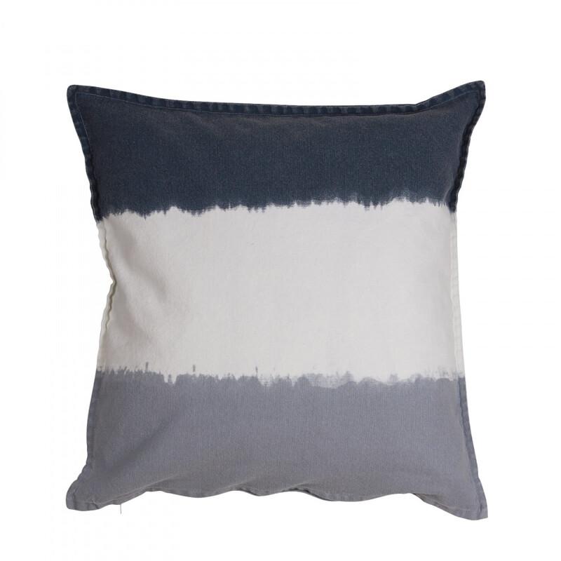 Kuddfodral Boho blå/vit