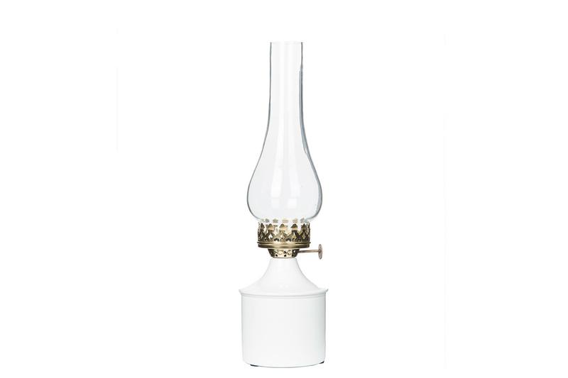 Lampa/Värmeljus Iris vit