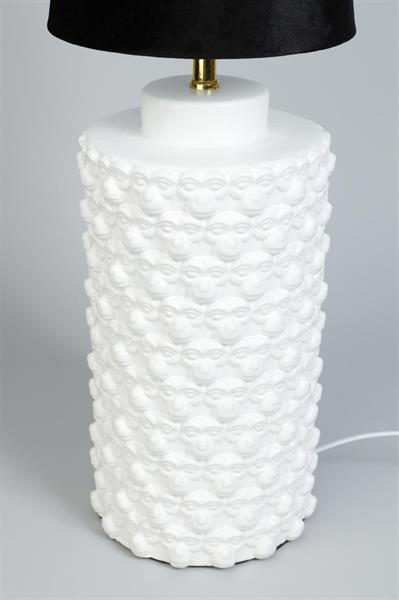 Lampfot Apa vit stor modell