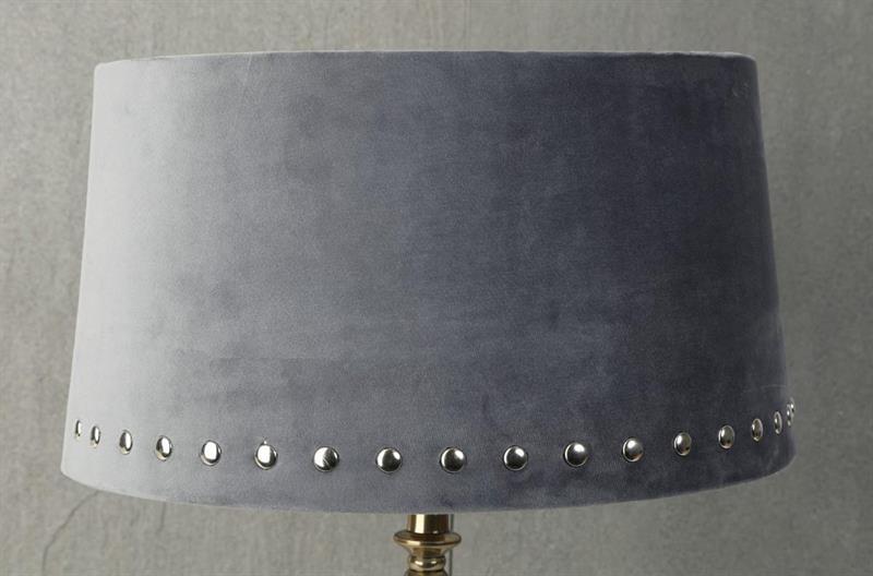 Lampskärm stor silver nitar