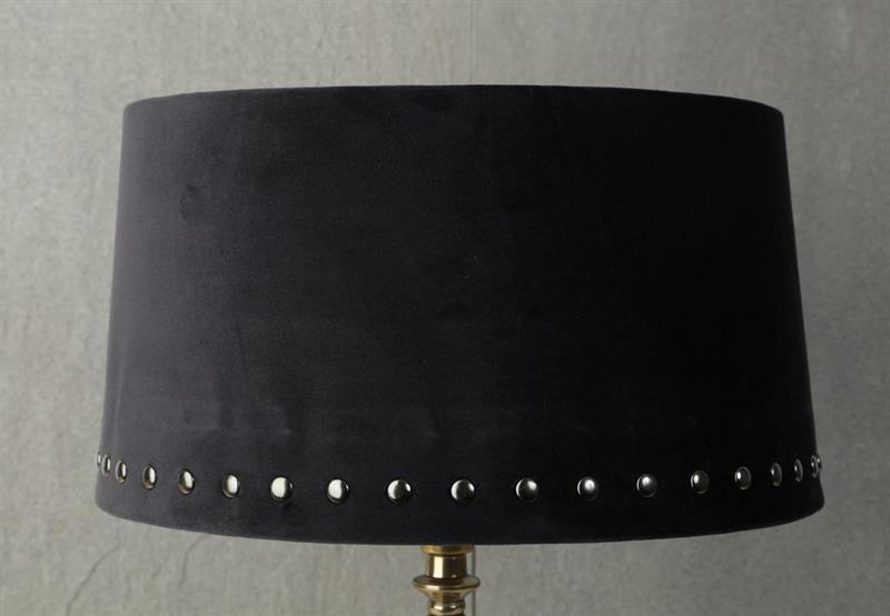 Lampskärm stor svart nitar