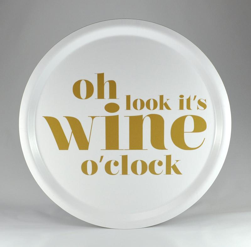 Bricka rund Wine o`clock